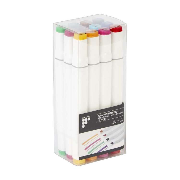 Francheville Graphic Markers 12 Pack