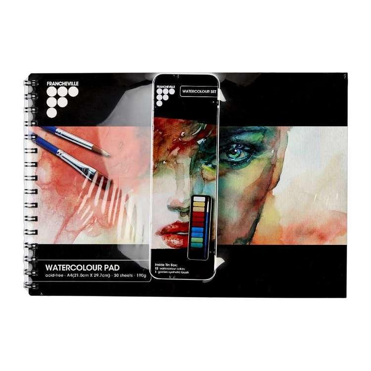 Francheville Studio Art Pad And Watercolour Set