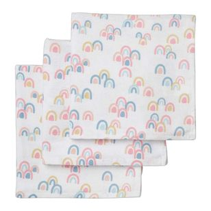 KOO Baby Flannelette Rainbow Wraps 3 Pack