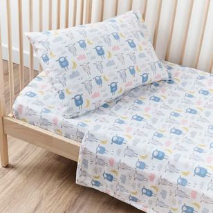 KOO Baby Flannelette Sheep Cot Sheet Set