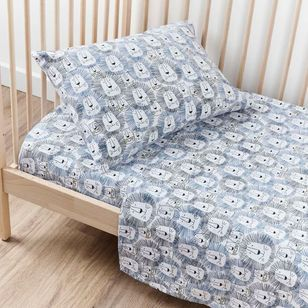 KOO Baby Flannelette Lion Cot Sheet Set