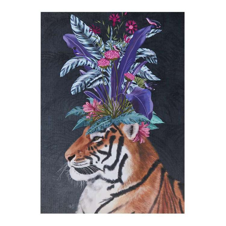 Hot House Tiger Framed Canvas Print