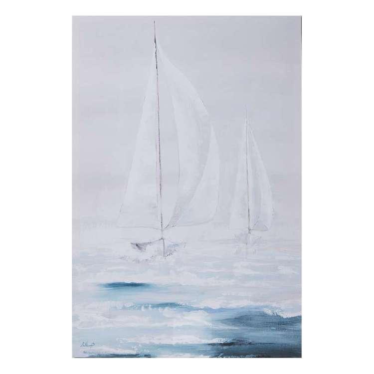 Sailing Boat Framed Canvas Print