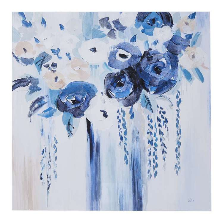 Tinted Blu Framed Canvas Print