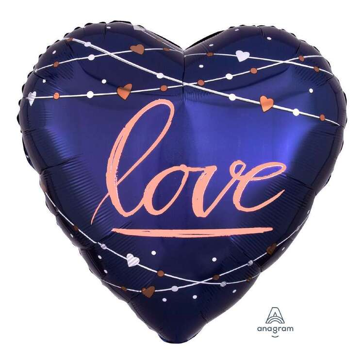 Anagram Jumbo Navy Love Foil Balloon