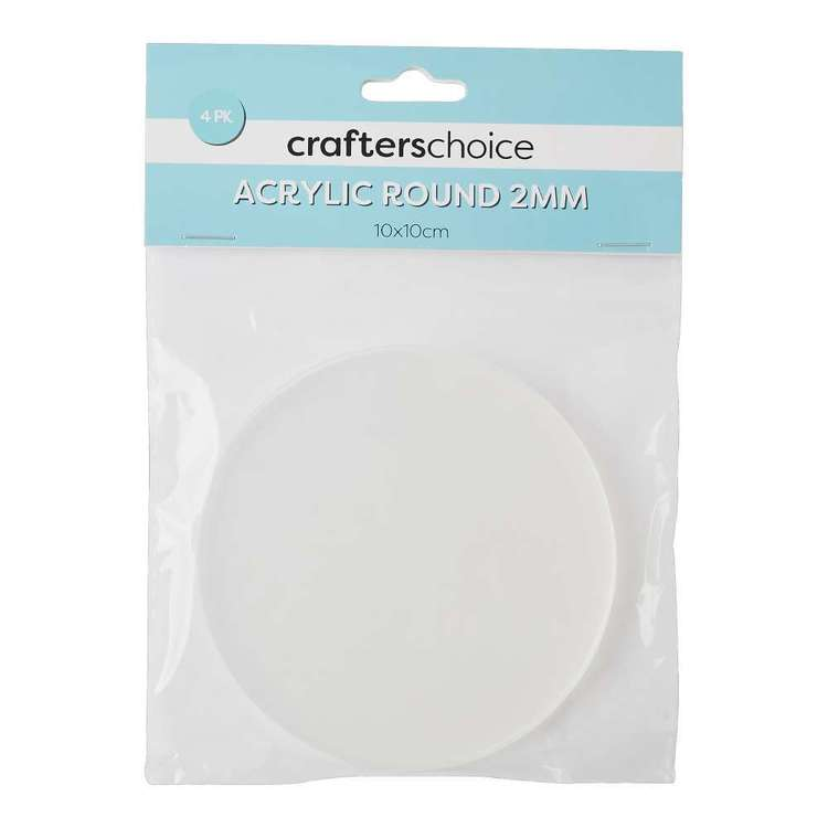 Crafters Choice Round Acrylic Blank 4 Pack