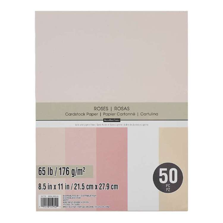 Recollections Cardstock 50 Pack