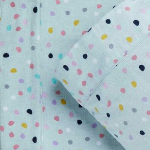 Kids House Flannelette Spot Sheet Set