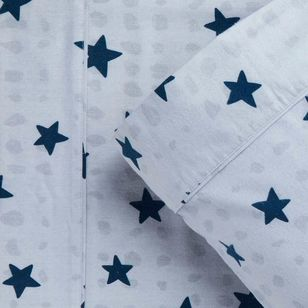Kids House Flannelette Star Sheet Set