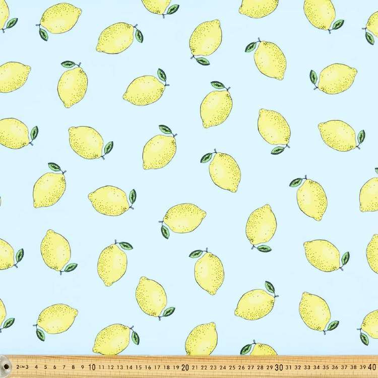 Lemon Printed 150 cm Microfibre Fabric
