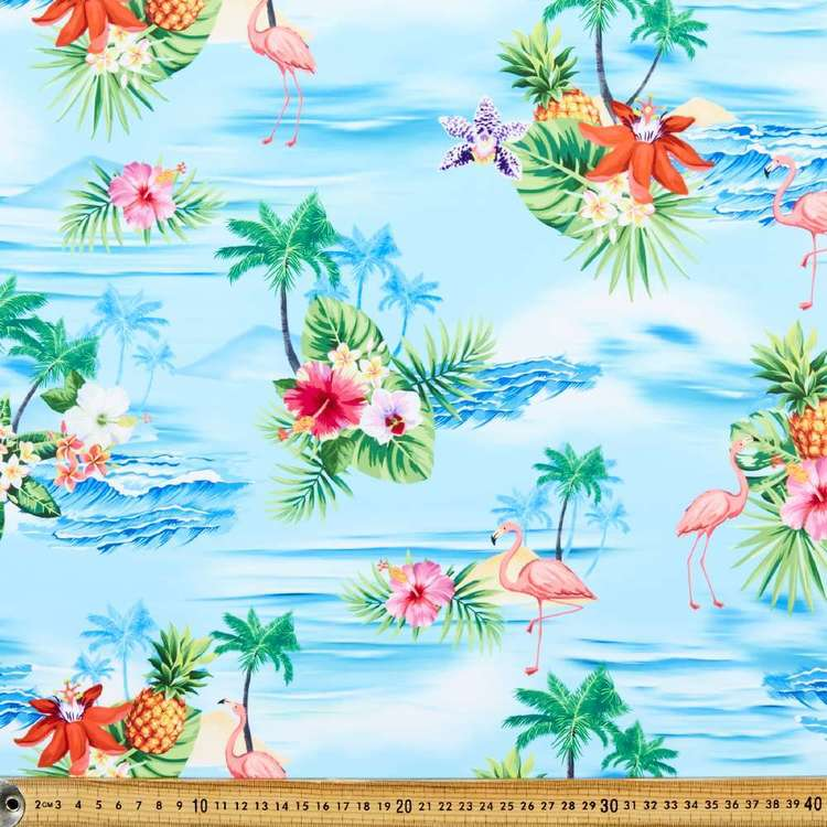 Tropical Printed 150 cm Microfibre Fabric