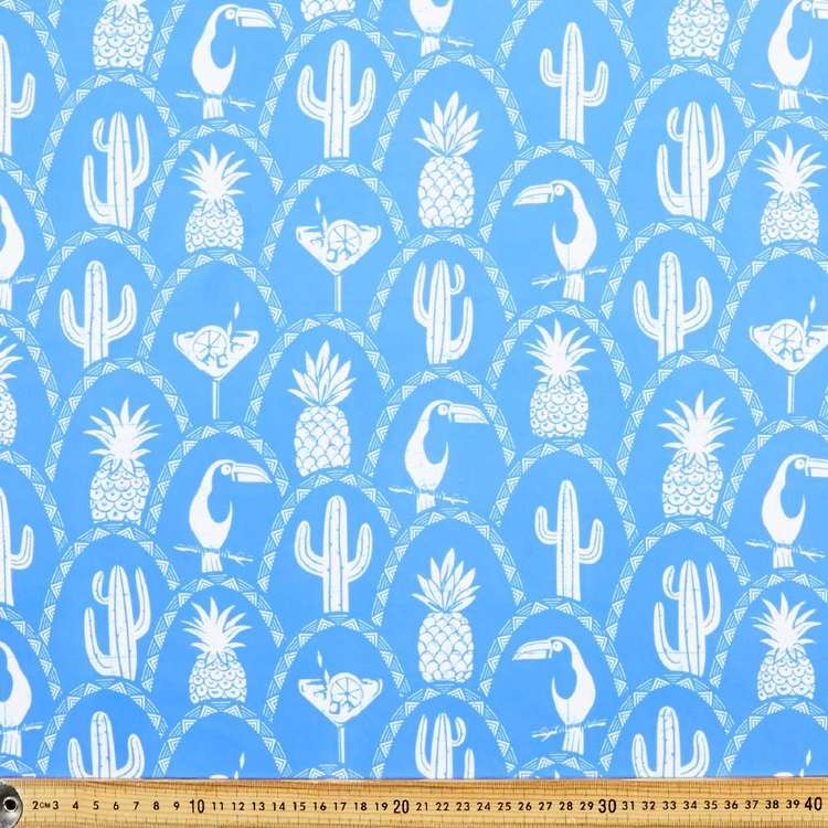 Pineapple Printed 150 cm Microfibre Fabric