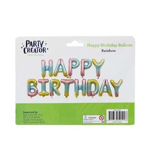 Party Creator Happy Birthday Letter Balloon