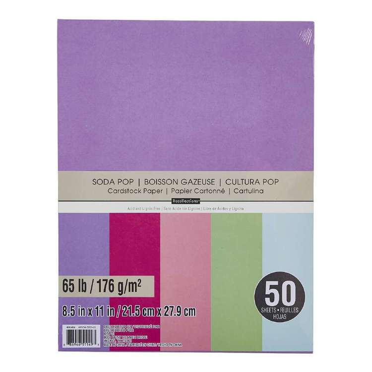 Recollections Soda Pop Cardstock 50 Pack