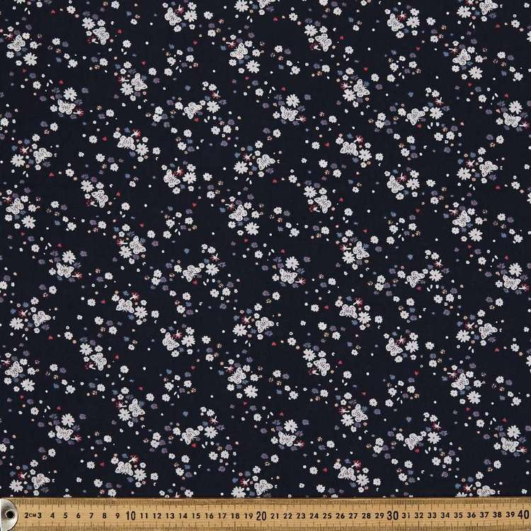 Butterfly Cluster Printed Country Garden TC Fabric