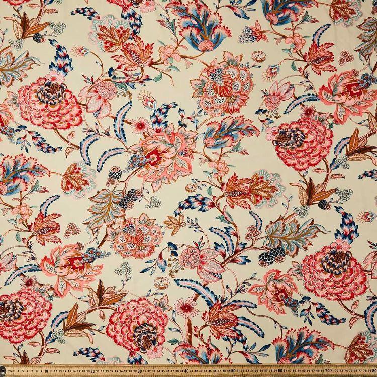 Antique Vine Printed 135 cm Dobby Rayon Fabric