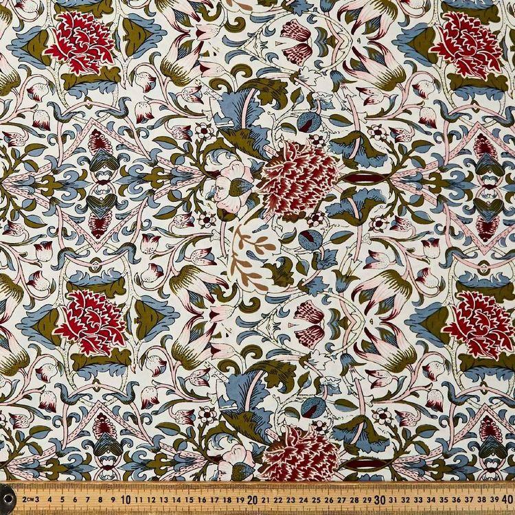 Reflective Vine Printed 135 cm Dobby Rayon Fabric