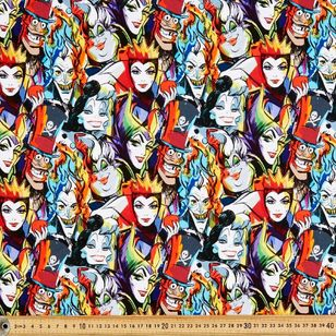 Dark Disney Villains 3 Cotton Fabric