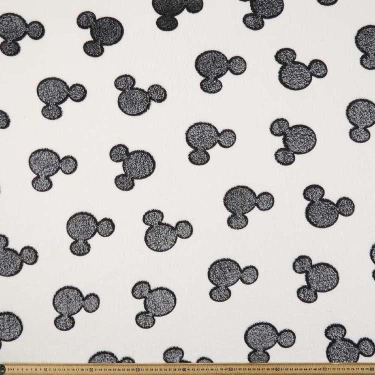 Disney Mickey Mouse Head Burnout Fleece Fabric