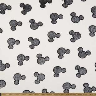 Disney Mickey Mouse Head Burnout Fleece Fabric