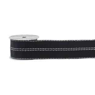 Monotone Saddle Stitch Grosgrain Ribbon