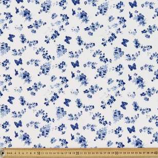 Butterfly Printed Country Garden TC 112 cm Fabric