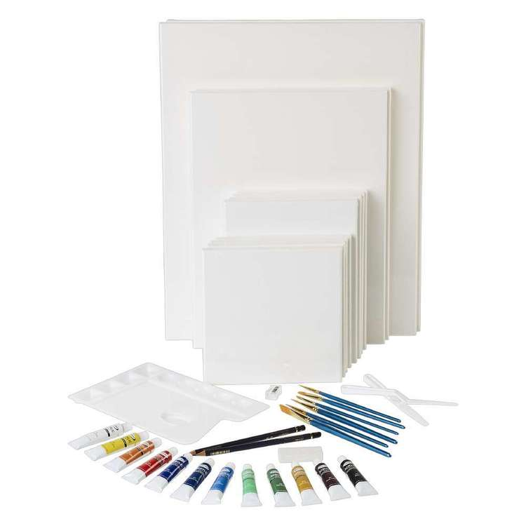 Semco Super Value 37 Pack Canvas And Paint