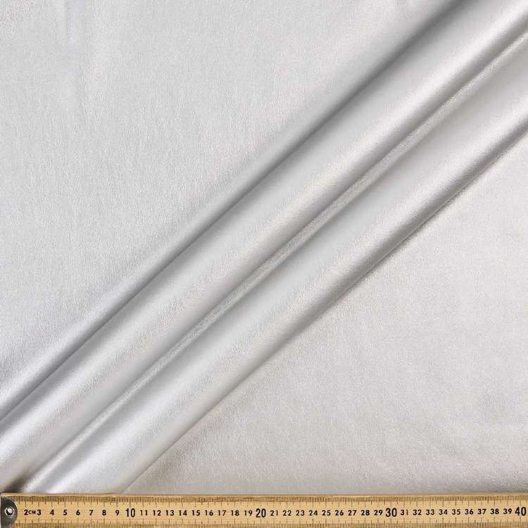 Plain 142 cm Metallic Pleather Fabric