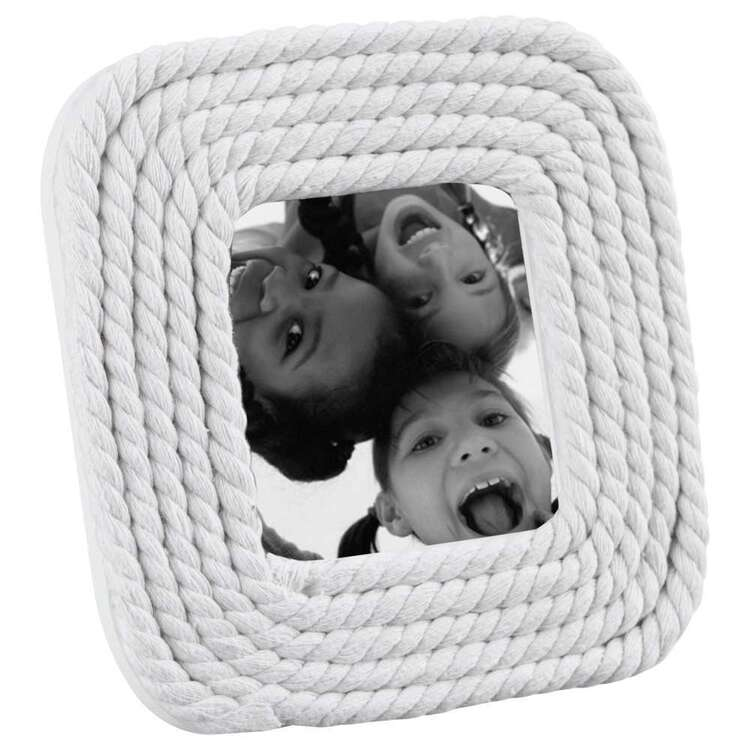 Bouclair Beach Villa Rope Frame  White
