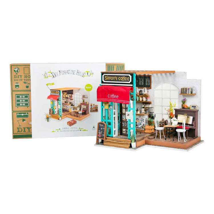Robotime Simon's Coffee Mini House Kit