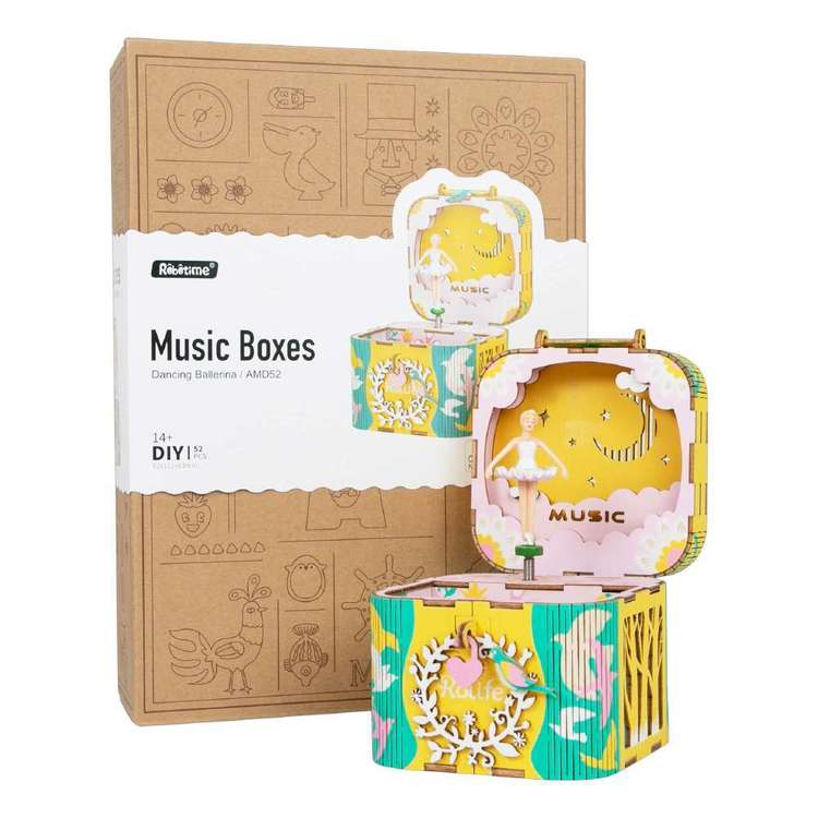 Robotime Dancing Ballerina Music Box DIY Kit