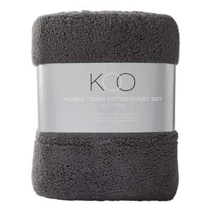 KOO Alissa Teddy Fitted Sheet Set