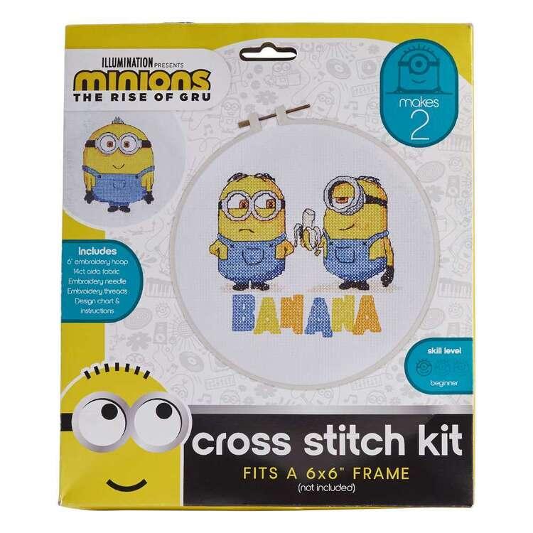 Minions 2 Banana Cross Stitch Kits