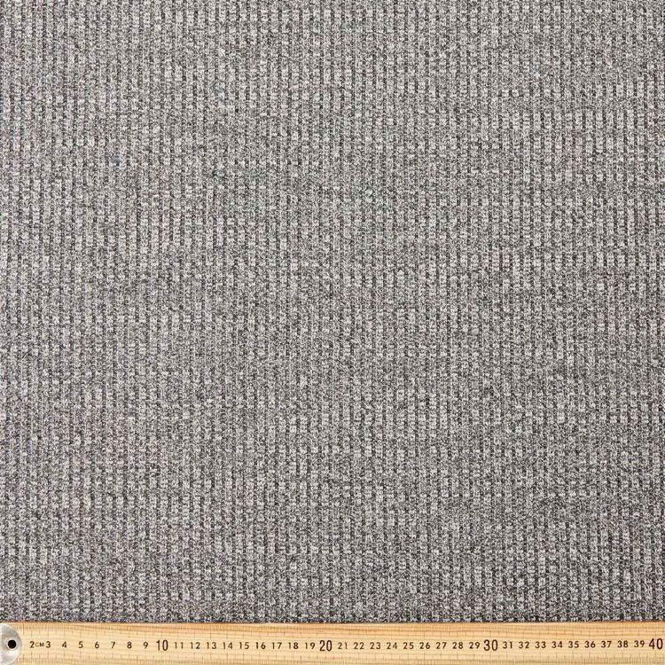 Lurex Ribbed Knit Fabric