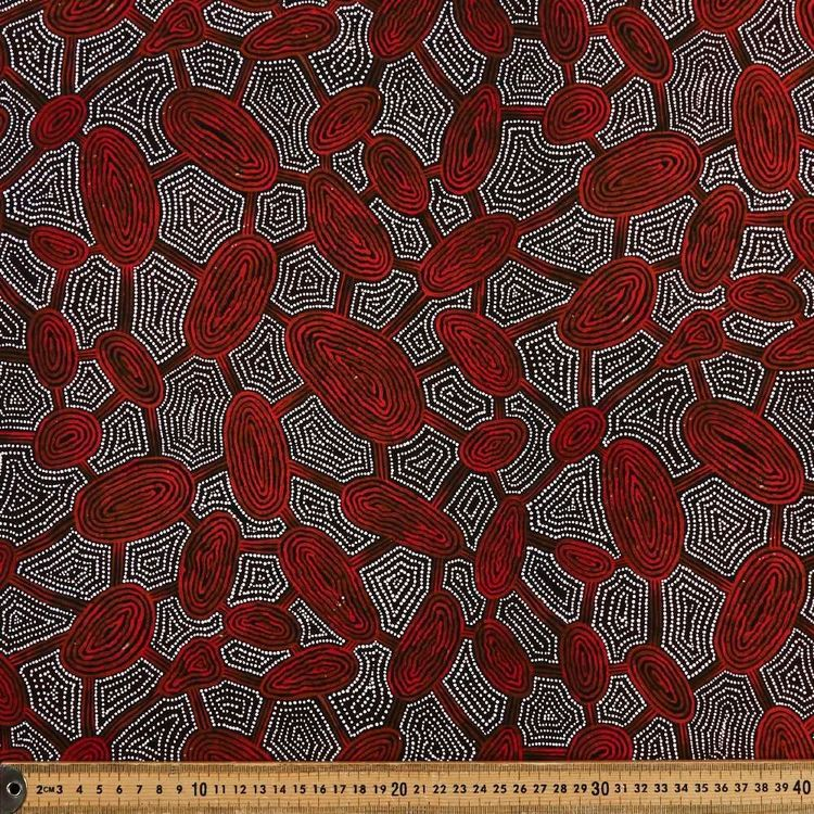 Maureen Indigenous Women Travelling Dreaming Cotton Fabric