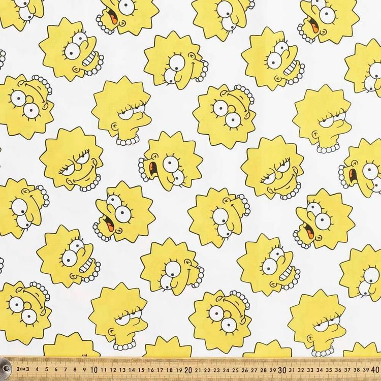 The Simpsons Lisa Cotton Fabric
