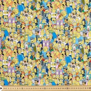 The Simpsons Cotton Fabric