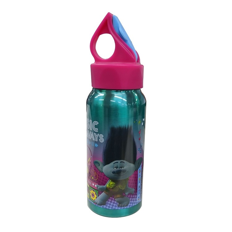 Trolls 2 Water Bottle Pink