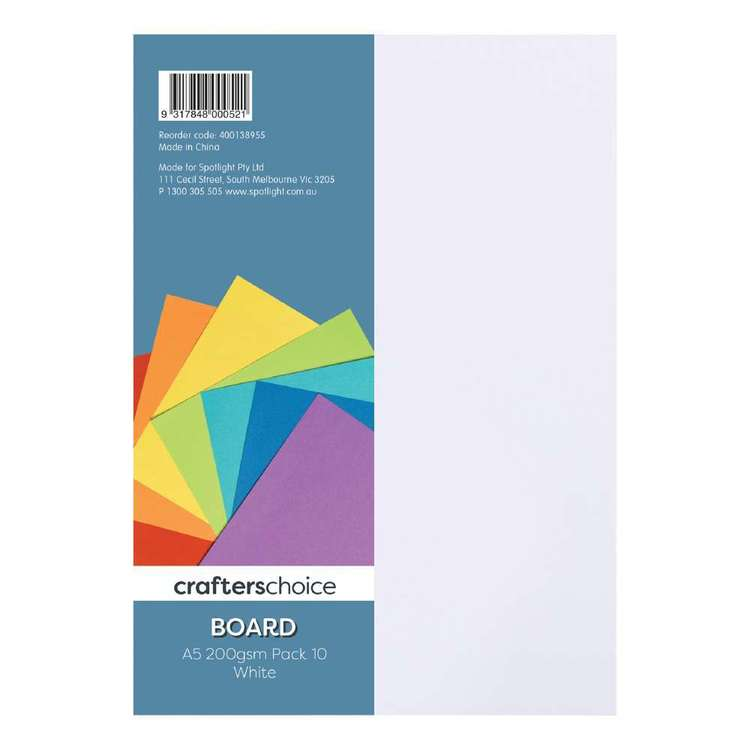 Crafters Choice 200 gsm 10 Pack Board