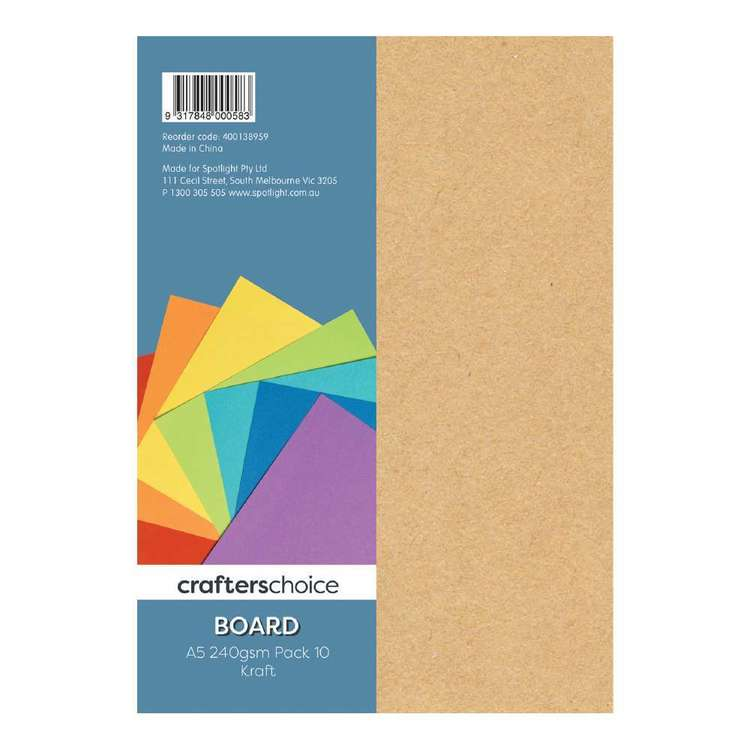 Crafters Choice 240 gsm 10 Pack Board