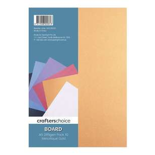 Crafters Choice 285 gsm Metallic 10 Pack Board