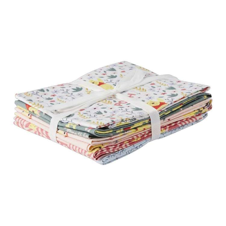 Disney Winnie The Pooh Floral 5 Piece Fat Quarter Bundle