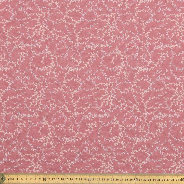 Double Sided Quilted Floral Blender Fabric