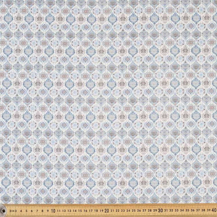 Tiles Digital Printed 142 cm Cotton Sateen Fabric