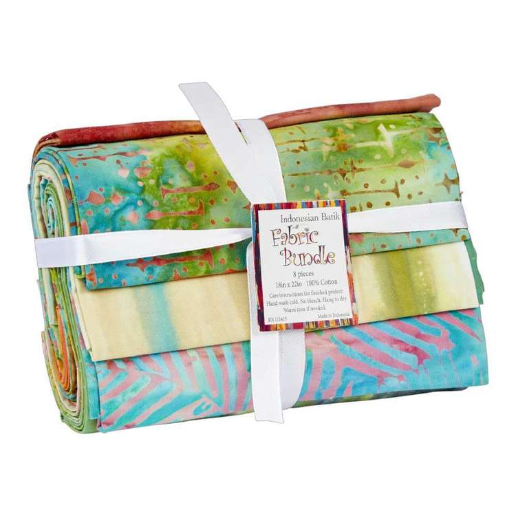 Batik Fat Quarter Bundle 8 Piece