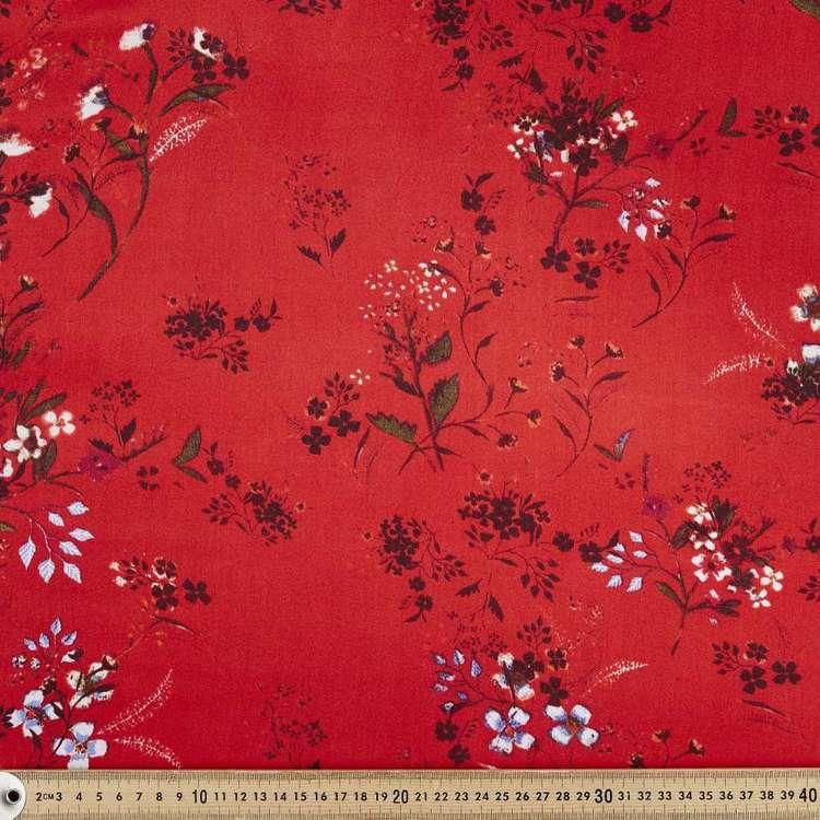 Garden Printed 147 cm Rayon Satin Fabric