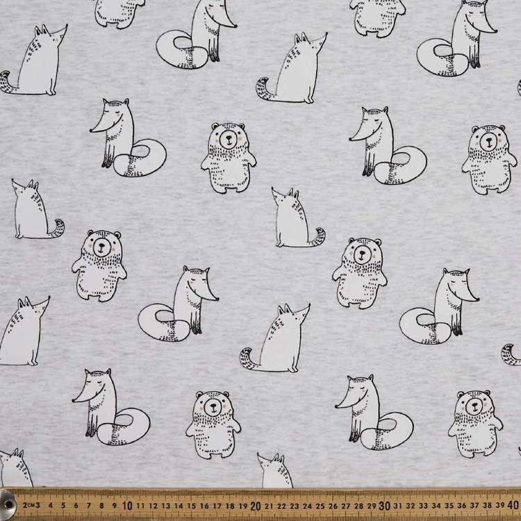 Animals Printed 145 cm French Fleecy Polar Fleece Fabric
