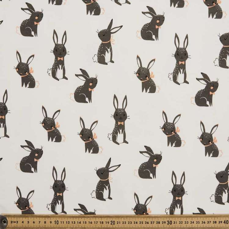 Bunny Printed 145 cm French Fleecy Polar Fleece Fabric
