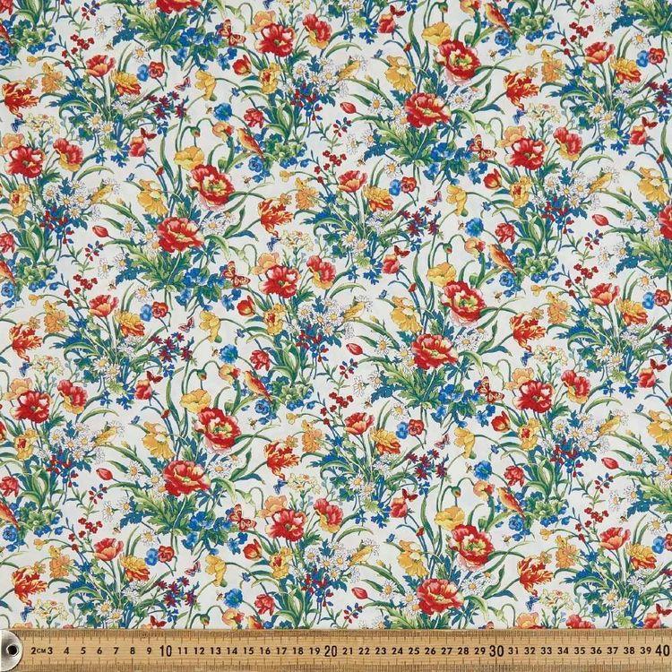 English Floral Printed 112 cm Japanese Poplin Fabric