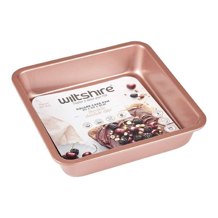 Wiltshire Rose Gold Square Cake Tin Rose Gold